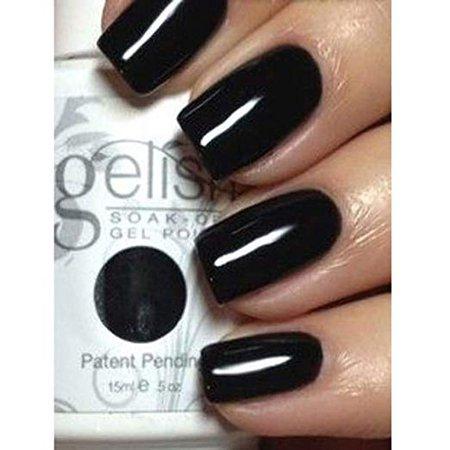 Amazon.com : Gelish Soak Off Gel Nail Polish, Black Shadow, 0.5 Ounce : Nail Polish : Beauty