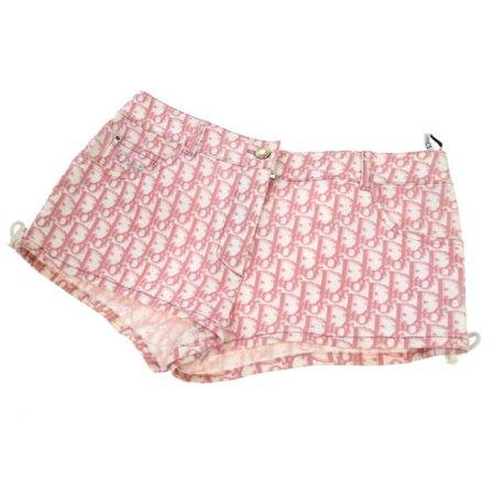 Authentic Christian Dior Trotter Short Pants White Pink Cotton Vintage AK26774 | eBay