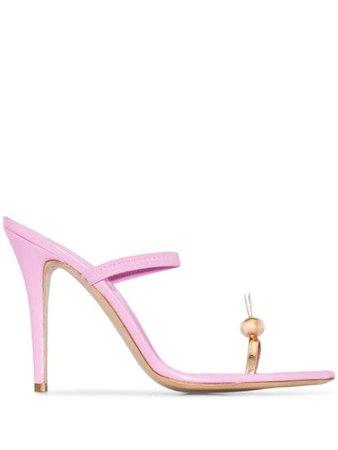 Natasha Zinko Bunny 110Mm Sandals SS2070209LEATHER Pink   Farfetch