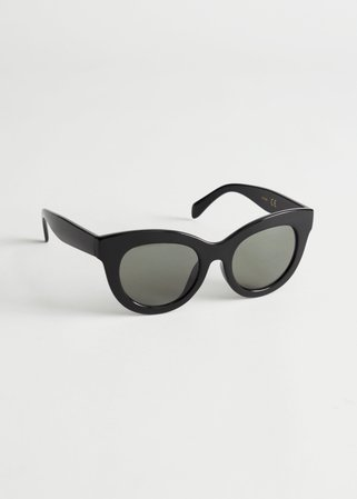 Oversized Rounded Sunglasses - Black - Sunglasses - & Other Stories