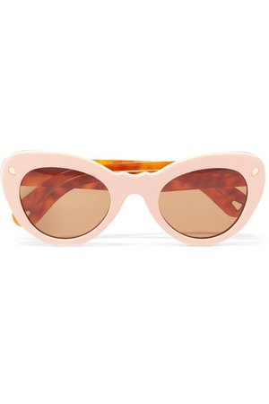 Lucy Folk | Wingspan two-tone cat-eye acetate sunglasses | NET-A-PORTER.COM