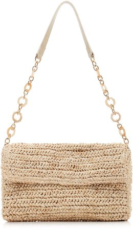 Marni Woven Straw Shoulder Bag