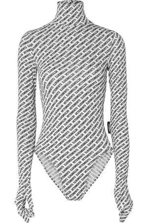 Vetements   Printed stretch-jersey turtleneck bodysuit   NET-A-PORTER.COM