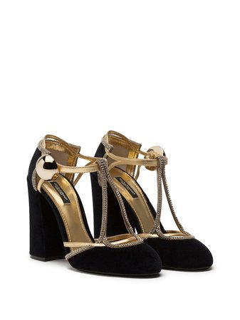 Dolce & Gabbana two-tone block-heel pumps