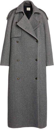 Khaite Gwyn Oversized Wool-Blend Trench Coat