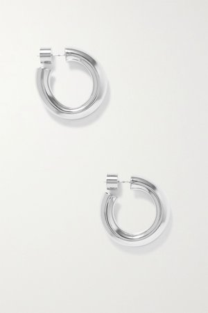 Silver Kevin silver-plated hoop earrings | Jennifer Fisher | NET-A-PORTER