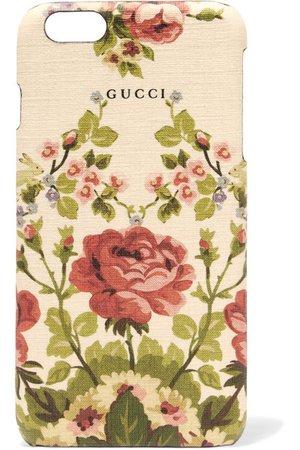 Gucci for NET-A-PORTER | Adonis floral-print textured iPhone 6 Plus case | NET-A-PORTER.COM