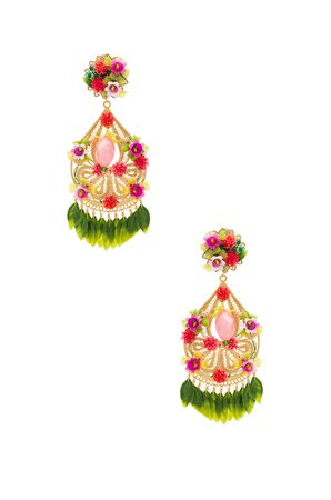 Fiesta Flor Rosa Earrings