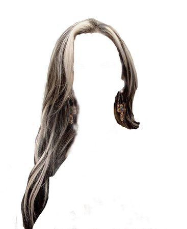 black and white chunky hair streaks