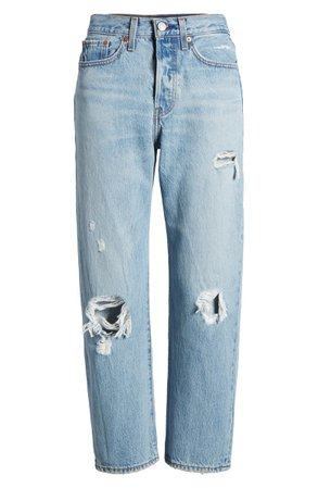 Levi's® Wedgie Ripped Straight Leg Jeans (Authentically Yours) | Nordstrom