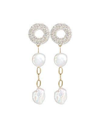 Lizzie Fortunato Aegean Pearl Drop Earrings   INTERMIX®