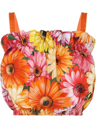 Dolce & Gabbana cropped floral-print blouse - FARFETCH