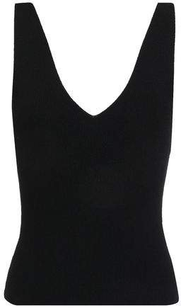 Ribbed Stretch-knit Tank