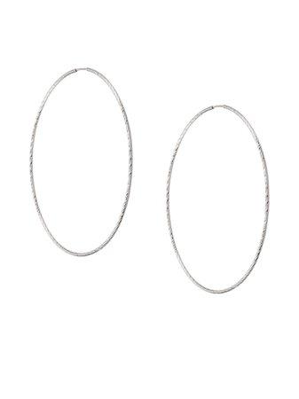 Maria Black 14Kt White Gold Liv 65 Hoop Earrings | Farfetch.com