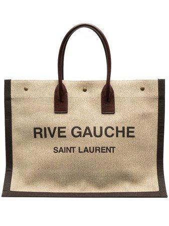 Saint Laurent logo-print Cabas Tote Bag - Farfetch