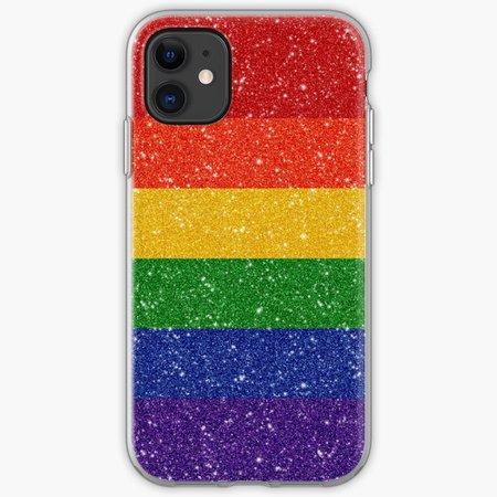 Glitter Rainbow Pride Flag iPhone Case