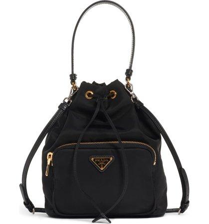 Prada Vela Nylon Bucket Bag | Nordstrom