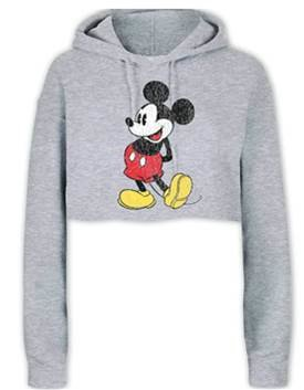 cropped mickey mouse hoodie