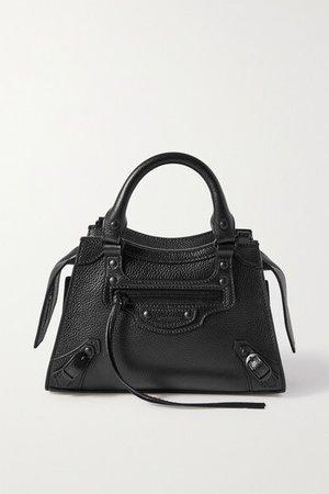 Neo Classic City Mini Textured-leather Tote - Black