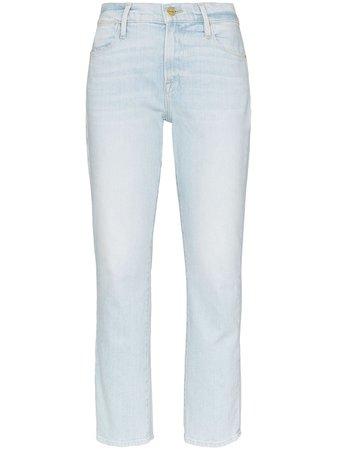 FRAME high-rise Straight Leg Jeans - Farfetch