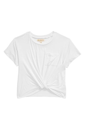 Tucker + Tate Knot Front Tee (Big Girl) | Nordstrom
