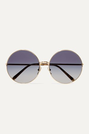 Blue Round-frame printed acetate and gold-tone convertible sunglasses | Dolce & Gabbana | NET-A-PORTER