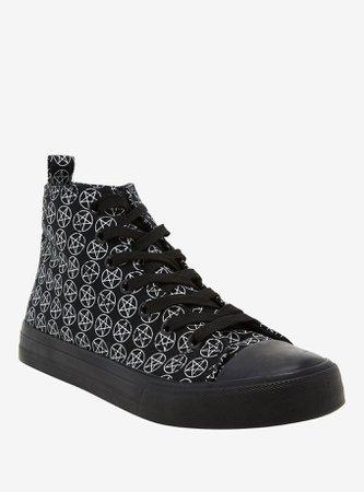 Pentagram Hi-Top Sneakers