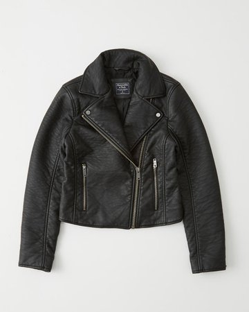 Womens Faux Leather Moto Jacket | Womens Jackets & Coats | Abercrombie.com
