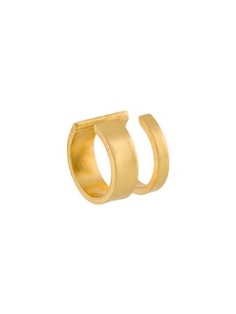 Hsu Jewellery Geometric Ear Cuff UL28UNFINISHINGLINEOPENLINEGOLDPLATEDEARCUFF Gold | Farfetch