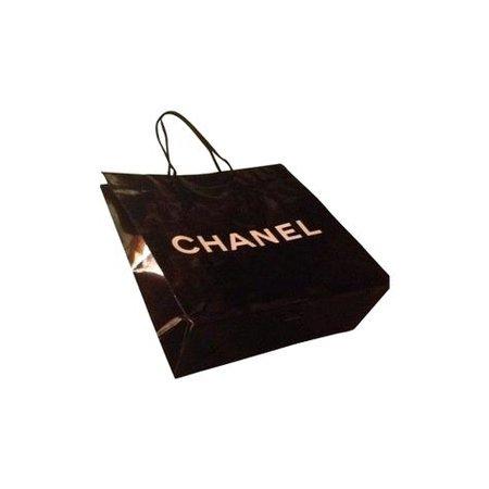 bag shopping chanel black