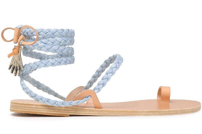 Ancient Greek Sandals Light Blue