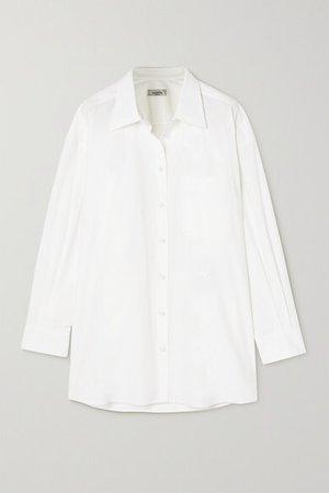Cotton-poplin Shirt - White