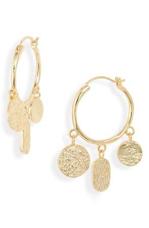 gorjana Banks Coin Hoop Earrings | Nordstrom