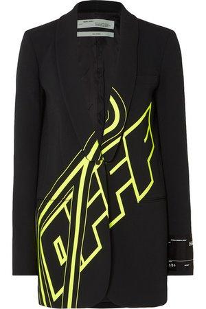 Off-White | Blazer en cady imprimé | NET-A-PORTER.COM