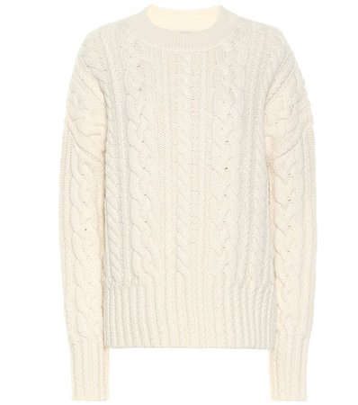 AMI Cable-Knit Wool Sweater