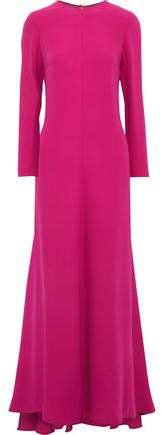 Gathered Silk-crepe Gown