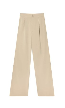 Straight trousers - Women's Just in | Stradivarius United States