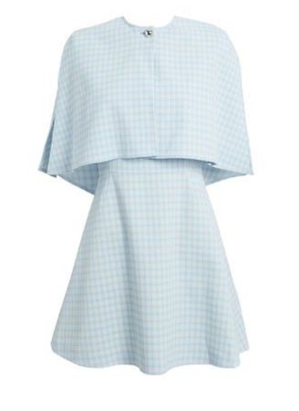 baby blue checkered dress