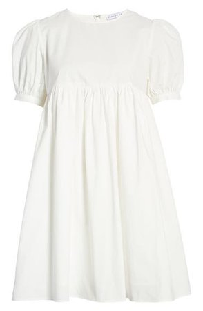 English Factory Puff Sleeve Cotton Babydoll Dress | Nordstrom