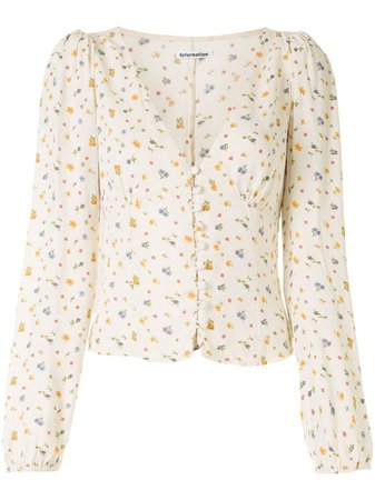 Reformation Nell floral-print Blouse - Farfetch