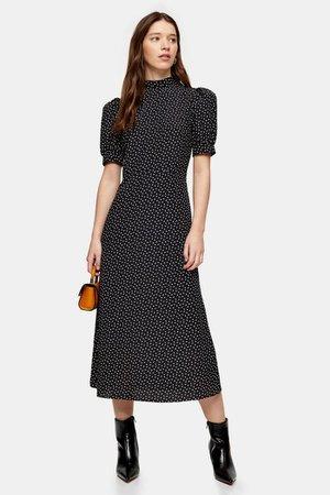 Black And White Spot Tea Dress | Topshop