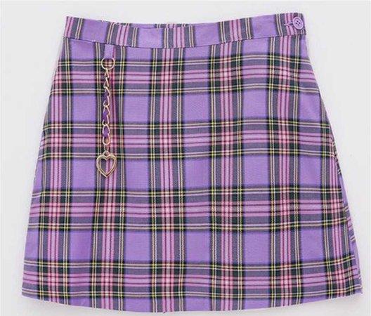 Lavender Plaid Skirt