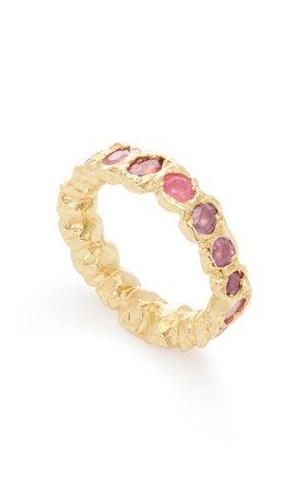 Rainbow 14K Yellow-Gold and Sapphire Ring by Fie Isolde | Moda Operandi