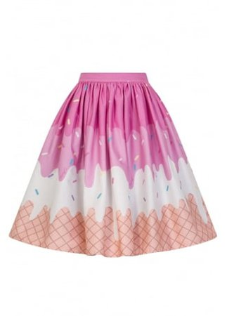 COLLECTIF CLOTHING Jasmine Ice-Cream Swing Skirt