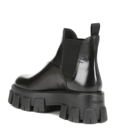 Leather Ankle Boots | Prada - Mytheresa