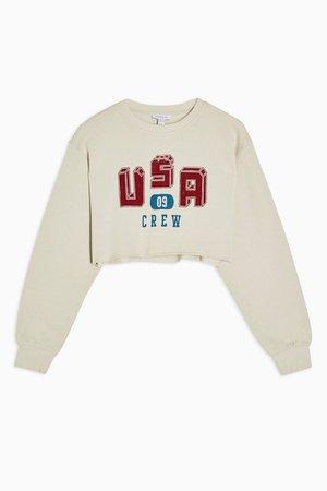 USA Collegic Sweatshirt | Topshop