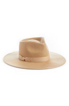 Caramel Rancher Wool Felt Fedora