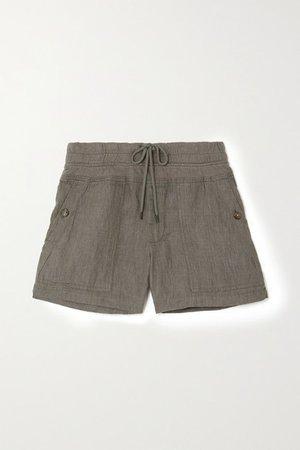 Linen Shorts - Army green