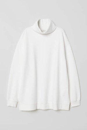 Turtleneck Sweatshirt - White