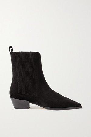 Belinda Suede Ankle Boots - Black